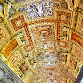 golden hall by Karel Kotrč - Buildings & Architecture Other Interior ( golden hall, frescoes, colouring, ceiling paintings, mosaic )