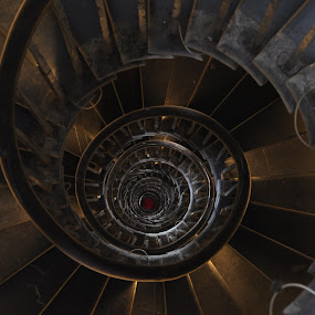 Helix Down by DJ Cockburn - Buildings & Architecture Other Interior ( christopher wren, stairs, spiral staircase, london, helix, monument,  )