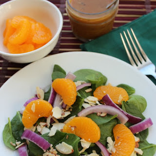 Mandarin Orange Spinach Salad with Orange Vinaigrette Dressing