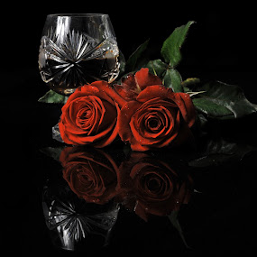 Roses and cognac by Cristobal Garciaferro Rubio - Food & Drink Alcohol & Drinks