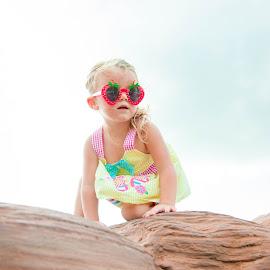 Rock Climbing TwoYear Old by Kellie Jones - Babies & Children Children Candids