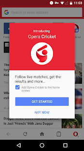 Webbrowser Opera Mini Screenshot