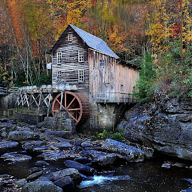 WVA on my Mind  -Grist Mill by Dennis Rubin - Landscapes Mountains & Hills ( mill, wva, october 2010, fall, mike, 2010, wv., 2010-10-18-279 d f, andy )
