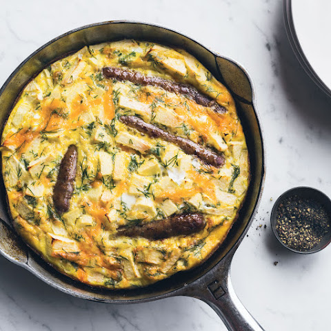 Sausage-and-Apple Frittata with Dill