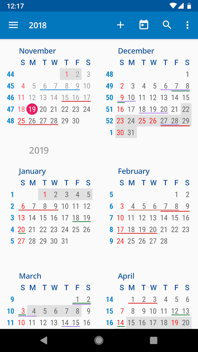 aCalendar+ Calendar & Tasks Screenshot 3