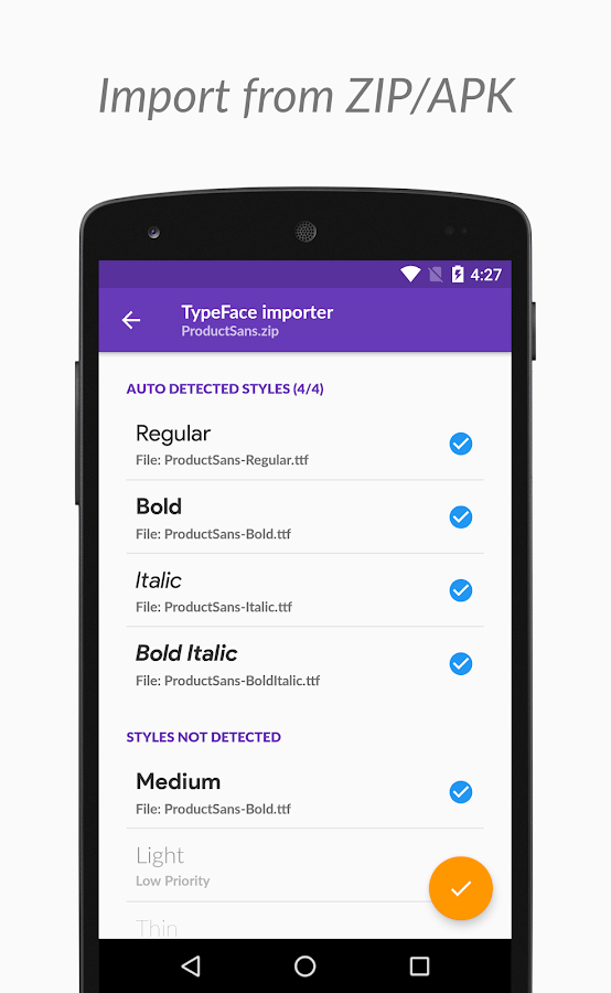 TypeFace - Change fonts with Root or Substratum Screenshot 3
