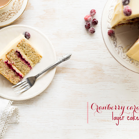Cranberry Cardamom Cake With Cream Cheese Frosting