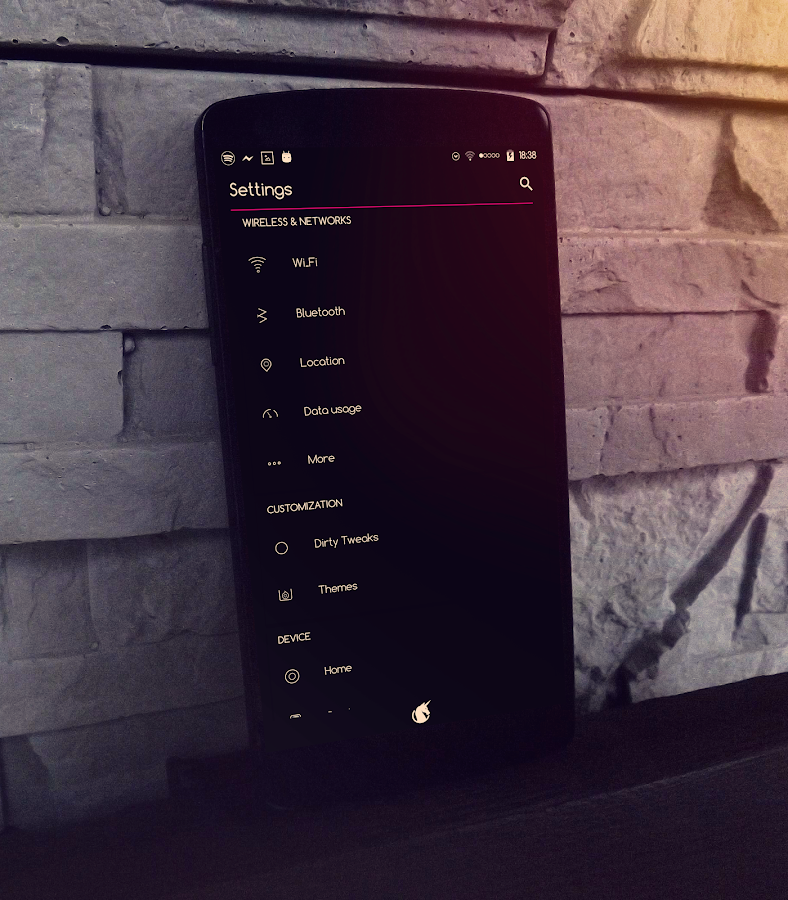 Pin Dark - CM13/CM12 Theme Screenshot