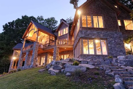 Luxury Log Home Plan Design - screenshot
