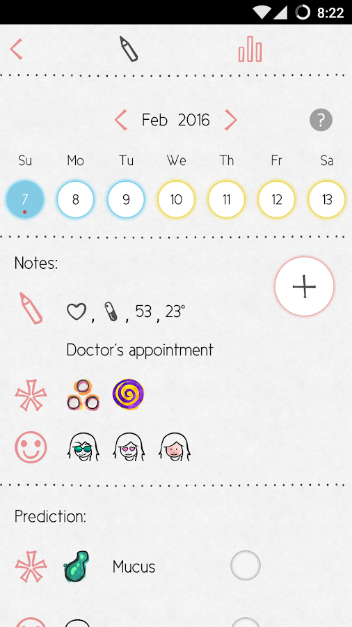 LoveCycles Period Tracker Screenshot 2