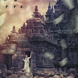 my dream by Edi Triono - Digital Art People ( temple, picture, hdr, woman, composition )