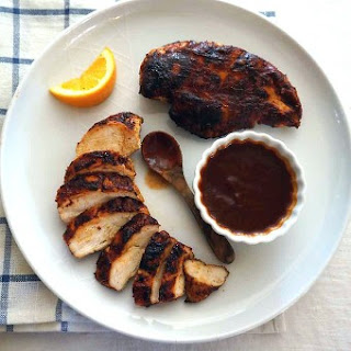 Spice-Rubbed Chicken Breasts with Easy Orange Barbecue Sauce