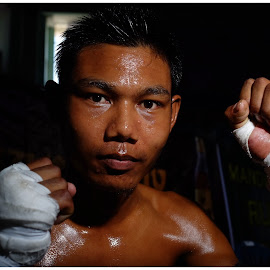 Myanmar fighter  by Leidolv Magelssen - Sports & Fitness Boxing ( myanmar, asia, yangon, boxing, fighter )