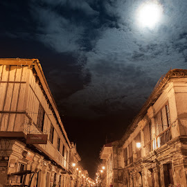 vigan by night by Sanjoy Sengupta - City,  Street & Park  Street Scenes ( nikon d700, philipines, vigan, street, night, travel, nikon mea, nikon, lon g exposure )