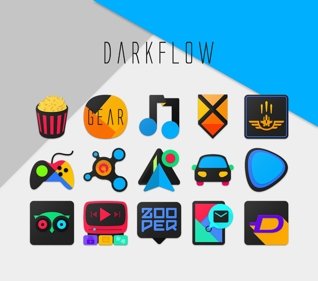 DarkFlow - Icon Pack Screenshot 1