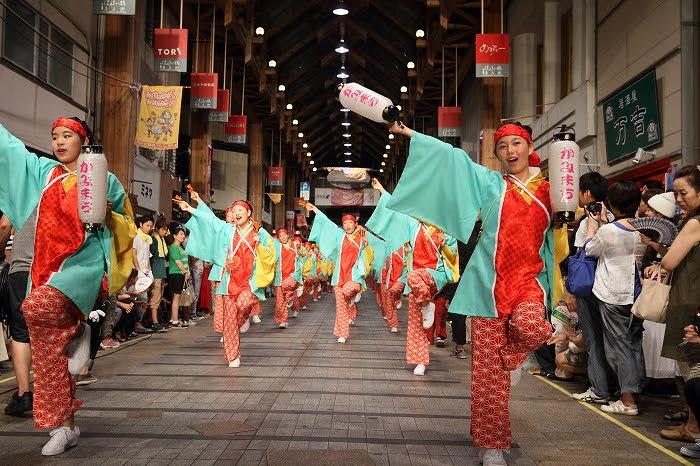 第61回よさこい祭り☆本祭2日目・はりまや橋競演場28☆上1目1446