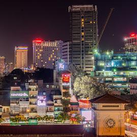by Tan Shyr Der - City,  Street & Park  Night
