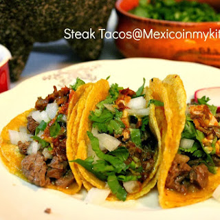 Mexican Steak Tacos / Co?mo Hacer Tacos de Bistec