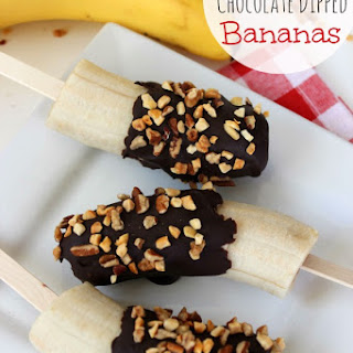 Frozen Chocolate Dipped Bananas