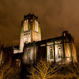 Liverpool Cathedral by Simon Sweetman - Buildings & Architecture Places of Worship ( church, liverpool, night, cathedral, anglican,  )