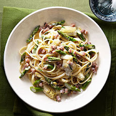 Linguine with Asparagus, Artichokes and Pancetta