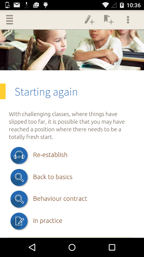 Managing Behaviour Screenshot 5