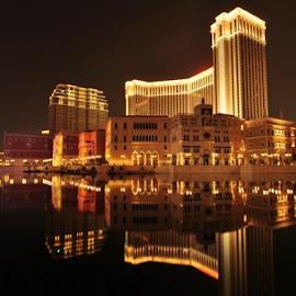 The Venetian Macau by Acong Tan - City,  Street & Park  Night (  )