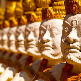 Buddha by Winfried Rusch - City,  Street & Park  Historic Districts ( religion, asien, statue, buddhism, kambodscha, buddha )