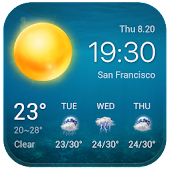 Local Weather Widget &Forecast APK for Bluestacks