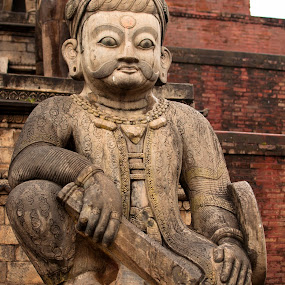 Statue by Garrett Dyer - Buildings & Architecture Statues & Monuments ( buddhism, statue, kathmandu, dunbar, square, nepal )