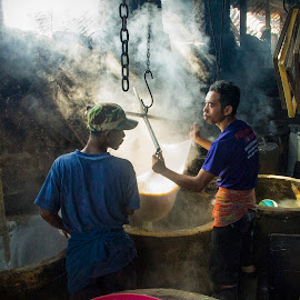 the process make  of tofu.  by Fandy Setyawan - People Street & Candids