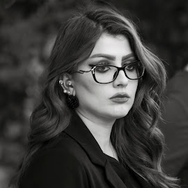Just a Look by Azher S Saleh - Black & White Portraits & People ( black and white, portrait )