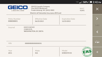 Screenshot of GEICO Mobile