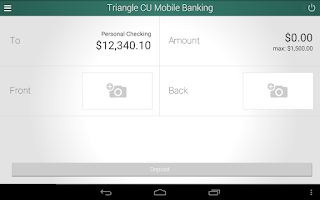 Screenshot of Triangle Credit Union