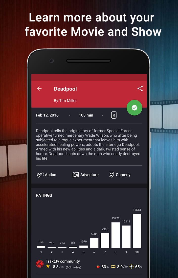 CineTrak: Your Movie and TV Show Diary Screenshot 2