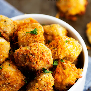 Garlic Parmesan Cheddar Chicken Bites