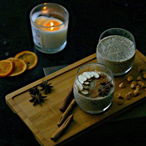 how to make chia pudding with almond milk