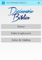 Screenshot of Diccionario Bíblico