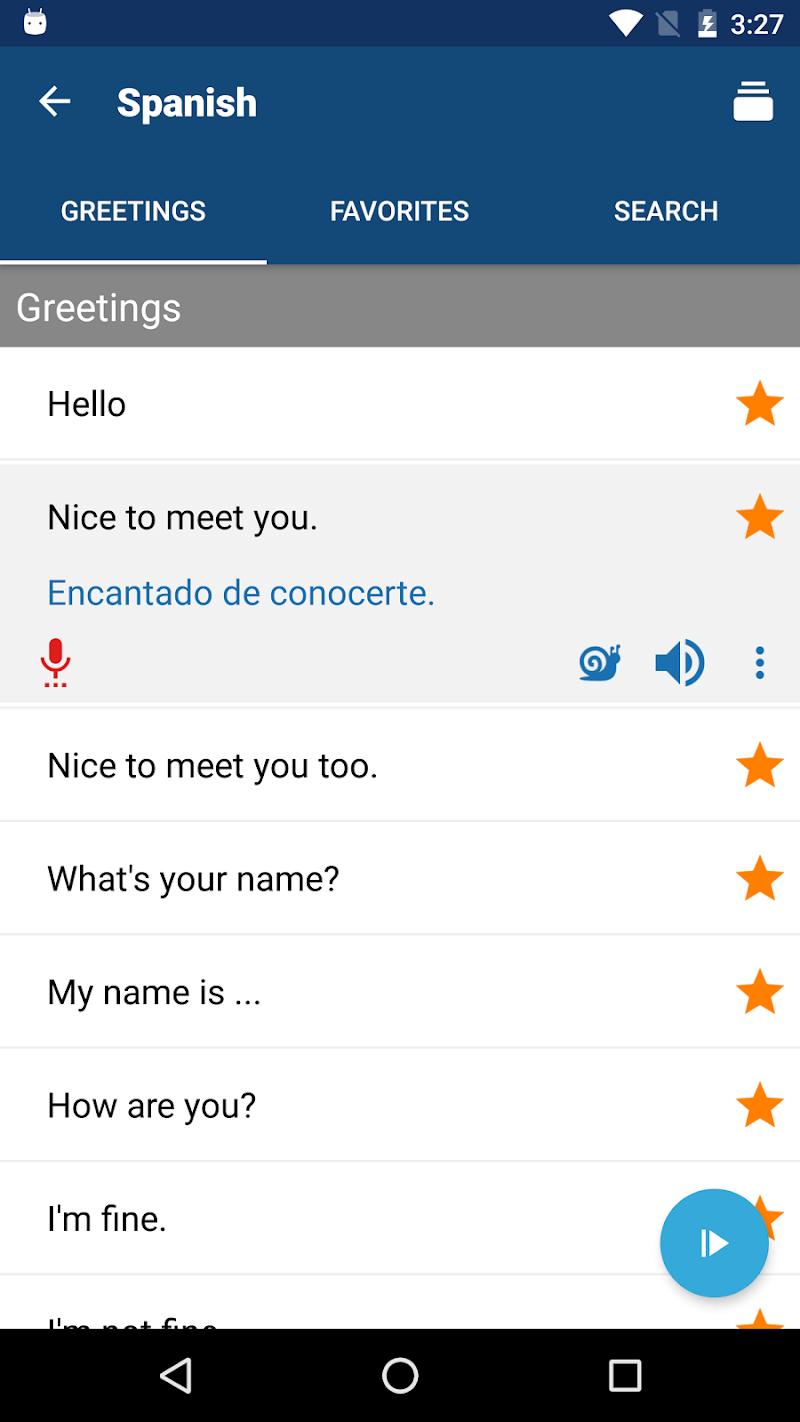 Travel Phrasebook | Foreign Language Translator Screenshot 2