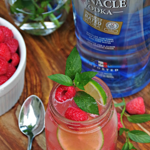 Raspberry Vodka Mojito