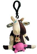 Игрушка Deglingos Коровка Milkos - брелок