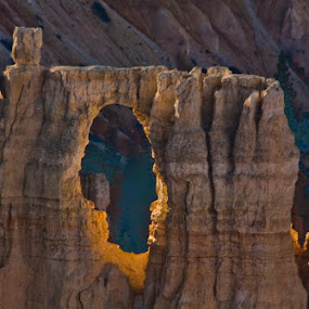Bryce Canyon Window by Clement Stevens - Landscapes Caves & Formations ( sandstone )