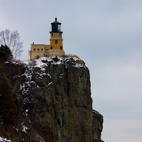 Split Rock in Winter by Camruin Kilsek - Landscapes Mountains & Hills