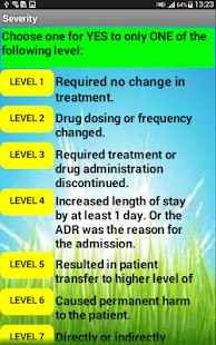 Adverse Drug ReactionSeverity - screenshot