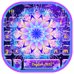 Galaxy Glitter Lotus Keyboard Theme Icon