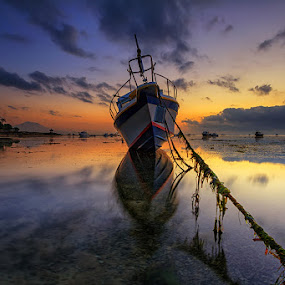 The New Flying Dutchman's Ship by Satrya Prabawa - Transportation Boats ( bali, indonesia, boats, asia, ships, sunrise )