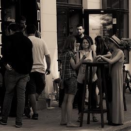 vino by Dušan Gajšek - Black & White Street & Candid ( lviv, _mesta, street )