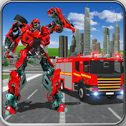 Fire Truck Real Robot Transformation: Robot Wars 70 Icon