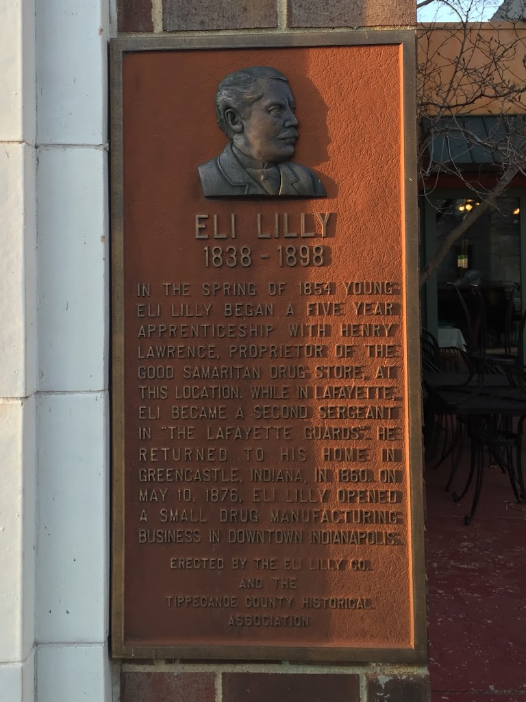 In the spring of 1854 young Eli Lilly began a five year apprenticeship with Henry Lawrence, proprietor of the Good Samaritan Drug Store, at this location. While in Lafayette, Eli became a second ...