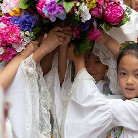 Filipino Children by VAM Photography - Babies & Children Children Candids ( children, culture, filipino, parade, new york )